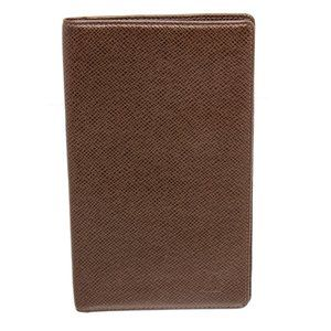 Louis Vuitton Brown Leather Long Checkbook Wallet